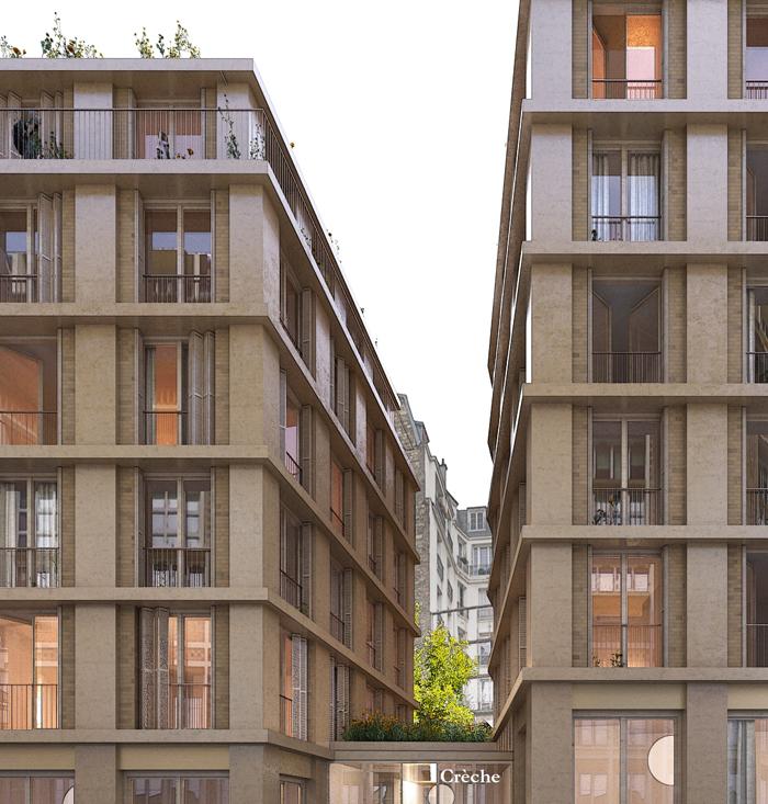 37 Logements Et Crèche Paris 16 Nicolas Reymond Architecture